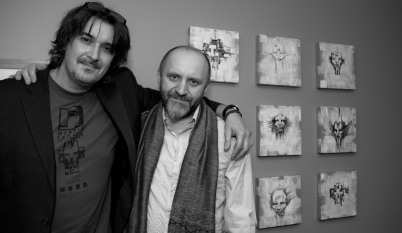 Ivan Rados [artist, author, healer] and me