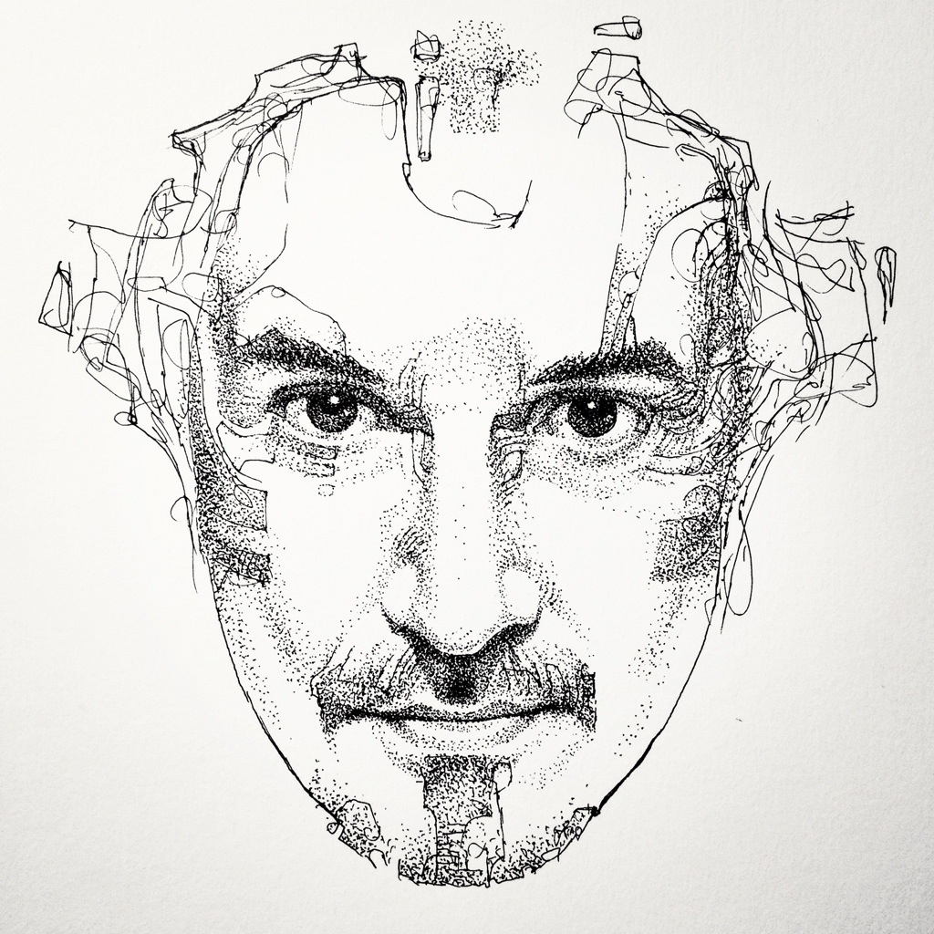 Line Art Portrait : November mystik mask art
