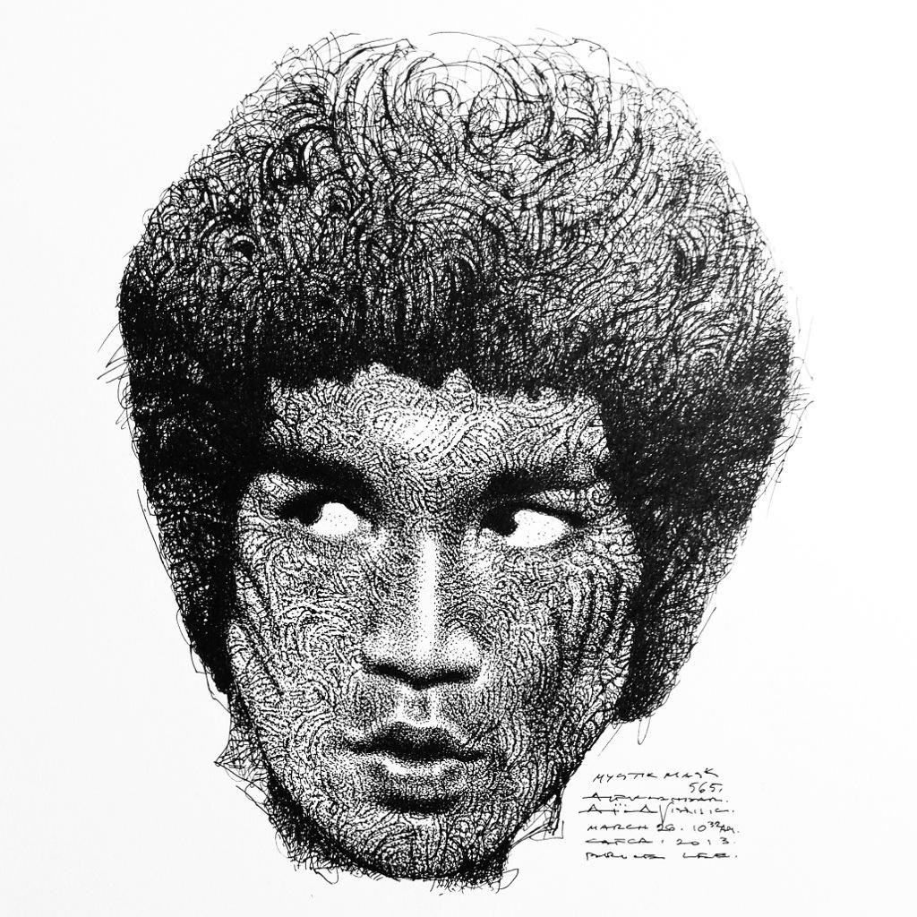 Spirit of Bruce Lee inside patterns