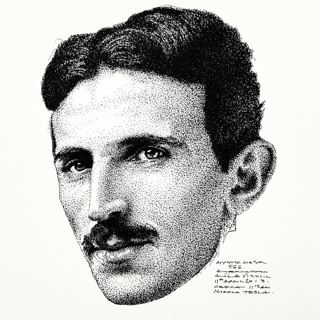 Nikola Tesla Wallpapers 35 Wallpapers: Regular Portrait Of Nikola Tesla Is Done, Now We Are Going